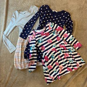 Girls long sleeve dress lot. Size 7/8. 9. 10